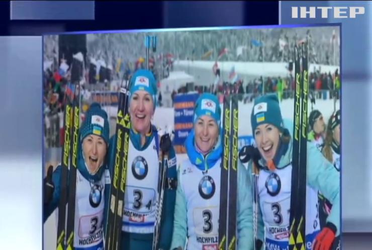 Украинские биатлонистки завоевали серебряные медали