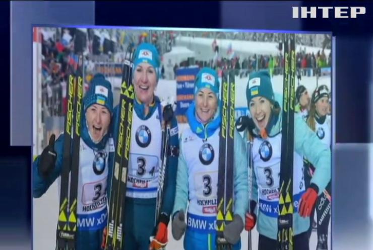 Біатлон: українки завоювали срібло у жіночій естафеті