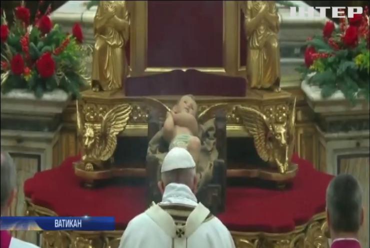 Папа Римський відправив різдвяну літургію у Ватикані