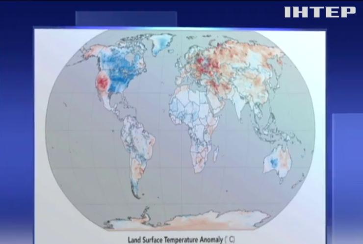 Зимние странности: в NASA опубликовали карту температурных аномалий на планете