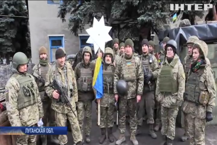 Воины АТО подготовили к Рождеству армейский вертеп