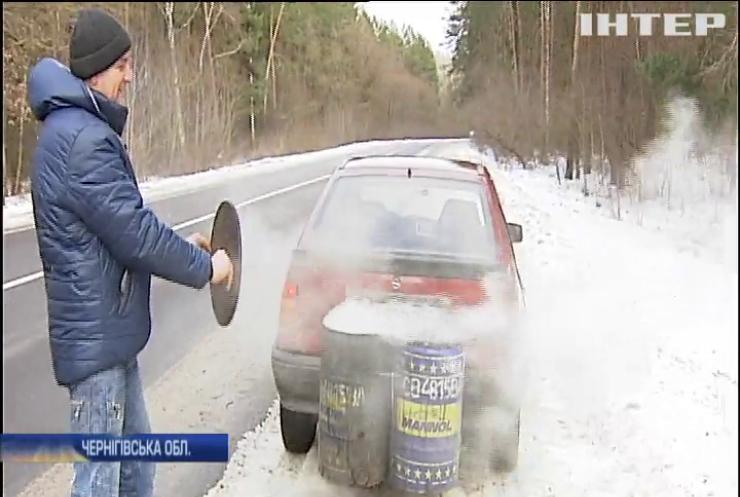 На Чернігівщині чоловік сконструював машину на дровах