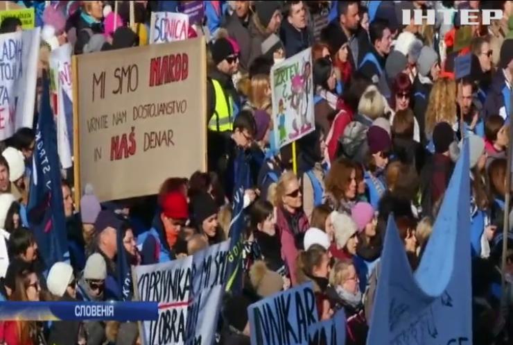 В Словенії десятки тисяч учителів вимагають підвищення зарплат
