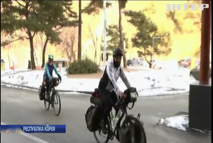 """Велосипедом через Євразію: батьки олімпійця прибули підтримати сина на """"Олімпіаді-2018"""""""