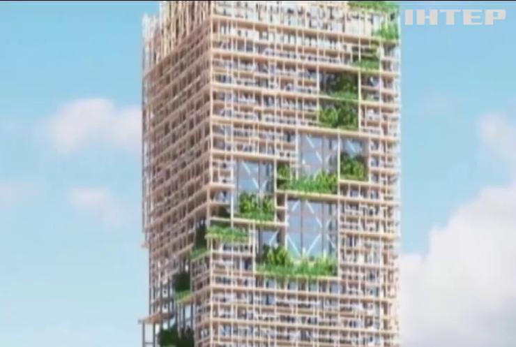 Японські майстри будують з дерева найвищий хмарочос (відео)