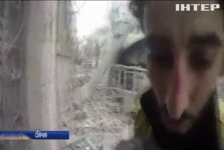 Под Дамаском продолжаются бомбардировки