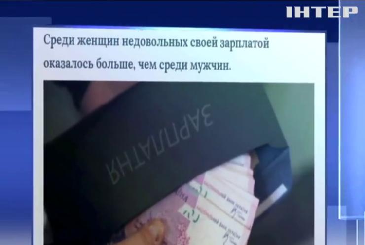 Украинцы недовольны зарплатами - соцопрос