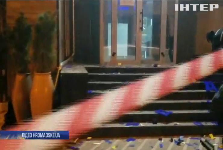 """Офіс """"Київміськбуду"""" обстріляли з протитанкового гранатомета"""