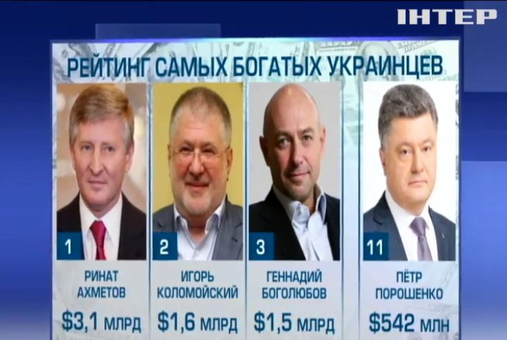 Кто возглавляет рейтинг самых богатых украинцев?