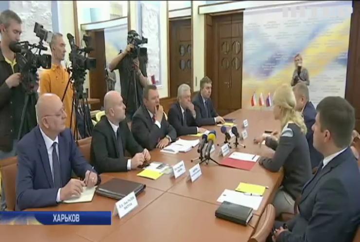 Руководство Харьковской обладминистрации провело встречу с представителями Вышеградской группы