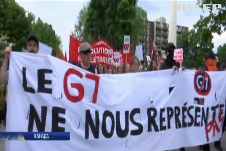 У Канаді тривають протести противників глобалізації