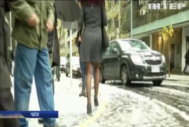 Аномальная погода: в Чили выпал снег