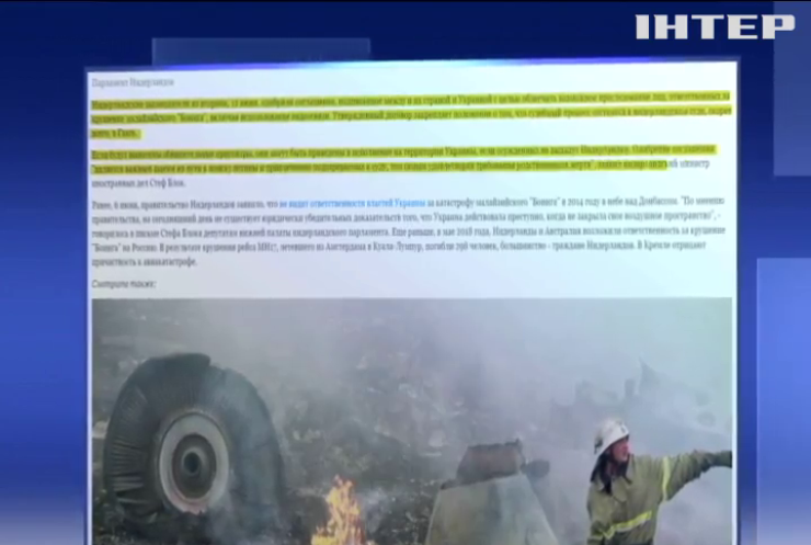 Виновные в крушении рейса МН-17 будут сидеть в украинской тюрьме
