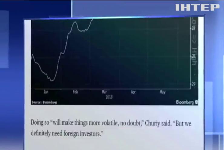 Гривня посилила свої позиції - Bloomberg