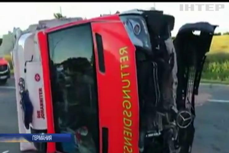 В Германии разбился автобус с детьми