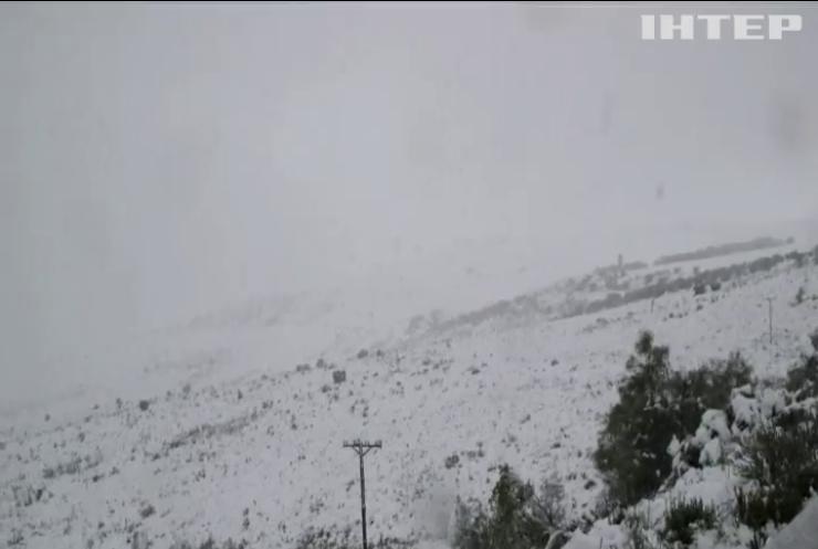 У Африці випав сніг (відео)