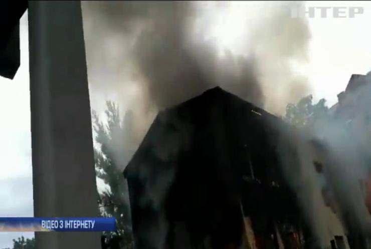 У столиці згоріла будівля дитячого садка
