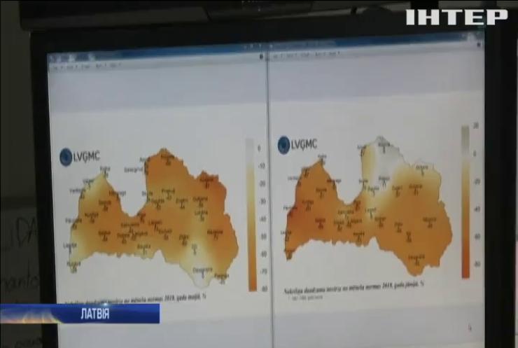 Латвія потерпає від аномальної засухи