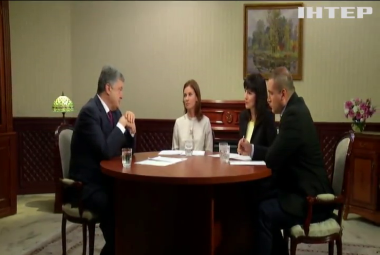 Интервью президента Украины: о чем рассказал Порошенко ведущим телеканалам страны?