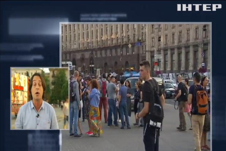 День рождения  Олега Сенцова: на Майдане Независимости прошли акции в поддержку украинского политзаключенного