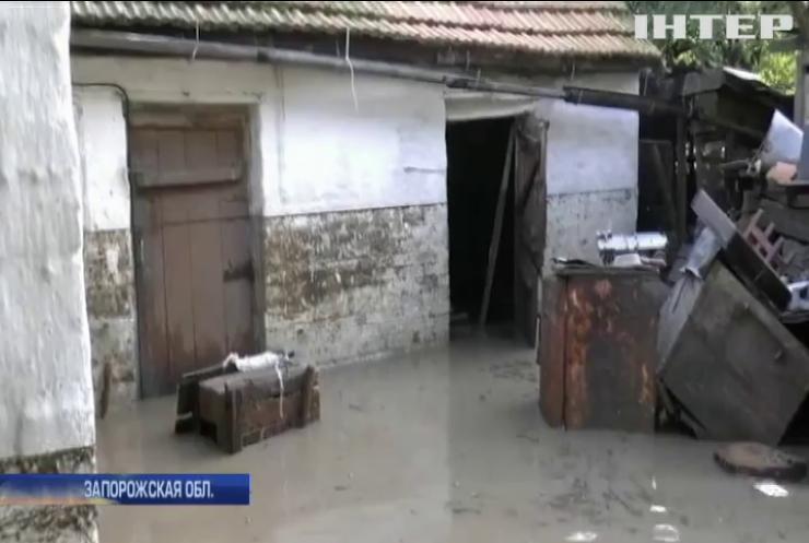 В Запорожской области подтоплены сотни домов