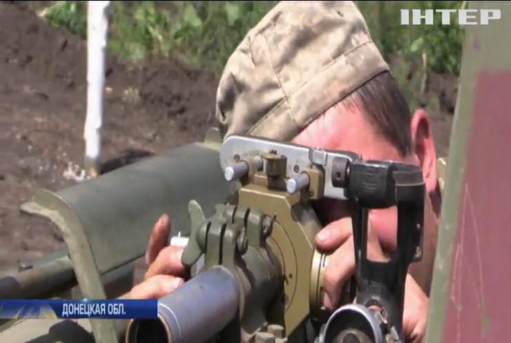 На Донбассе военные тренировались уничтожать танки