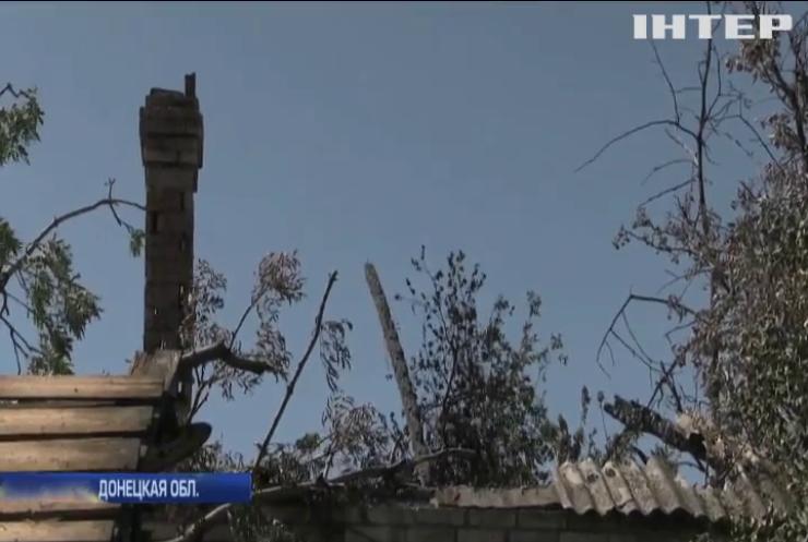 Война на Донбассе: Марьинка попала под обстрел боевиков