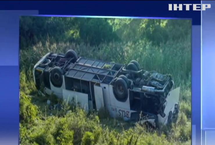 В Венгрии в автобусной аварии пострадали украинцы