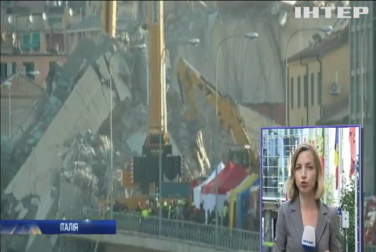 Руйнування мосту у Геную підірвало рейтинги керівної партії
