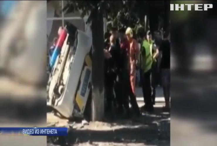 В Сумах в ДТП с участием патрульных пострадали 5 человек (видео)