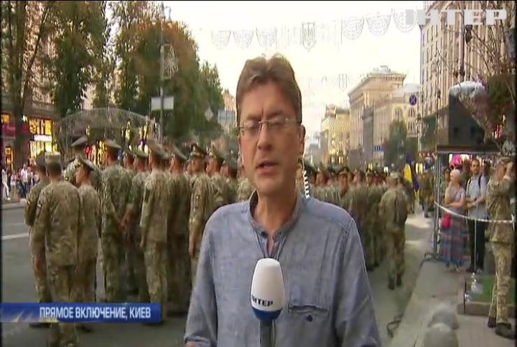 В Киеве прошла репетиция парада на День Независимости