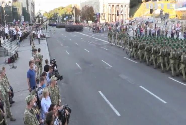 У репетиції параду до Дня незалежності взяли участь військовослужбовці восьми держав