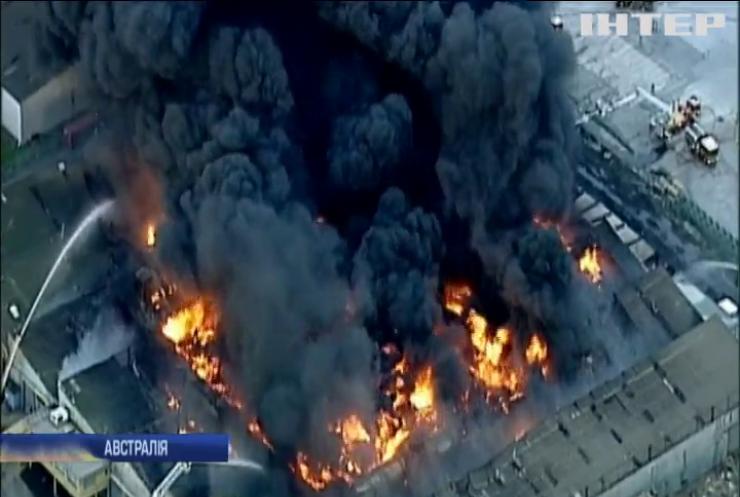 В Австралії горить хімічний завод