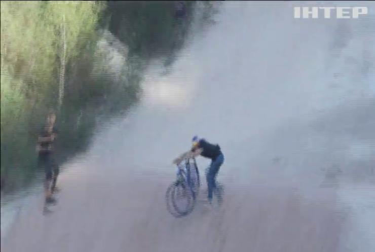 На конкурсі байкерів продемонстрували трюк з велосипедом