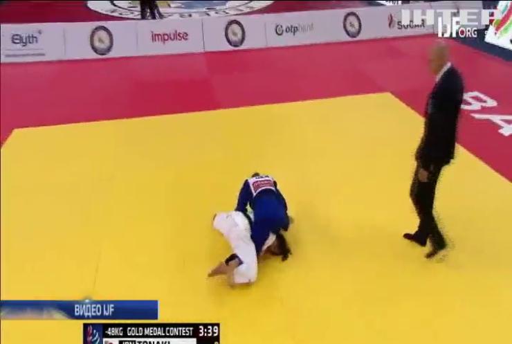 Украинка стала самой юной чемпионкой по дзюдо