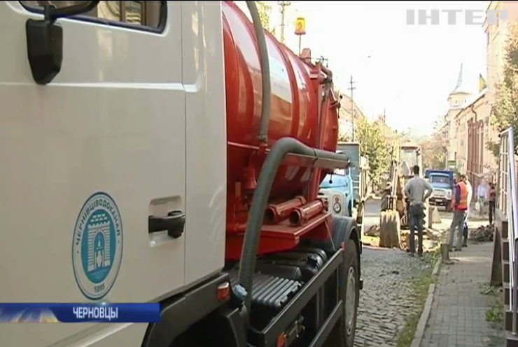В Черновцах не могут справиться с аварией на водоканале