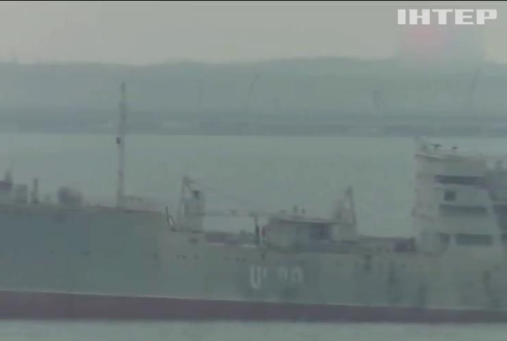 Українські військові кораблі увійшли в Азовське море