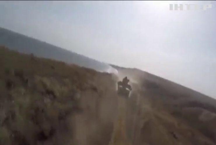 У Азовского моря военнослужащие совместно с пограничниками провели тактические учения