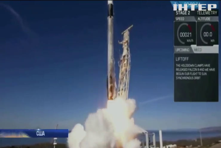 SpaceХ вивела на орбіту 64 супутники