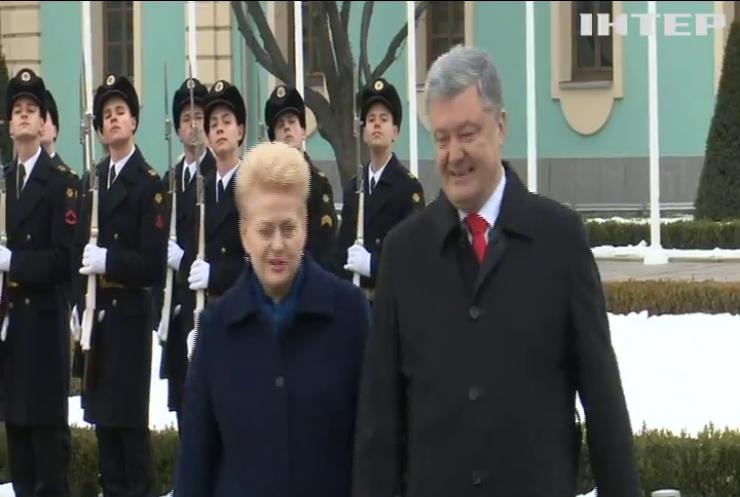 Президент Литви прибула з офіційним візитом до України