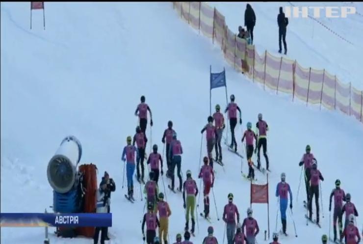 В Австрії спортсмени позмагалися у незвичній зимовій естафеті