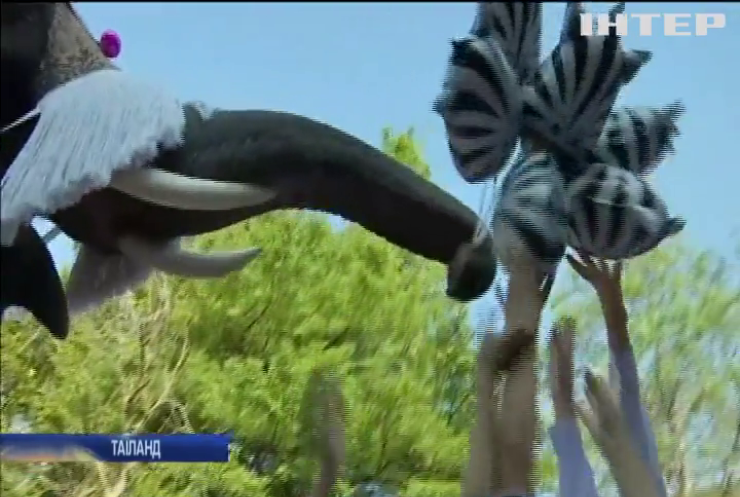 У Таїланді слони роздали малечі подарунки