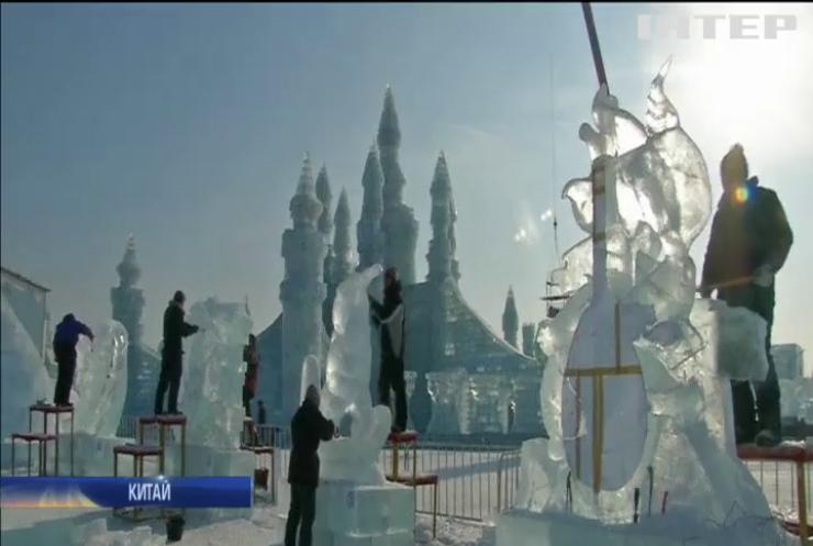 У Харбіні добігає кінця конкурсна програма фестивалю крижаних скульптур
