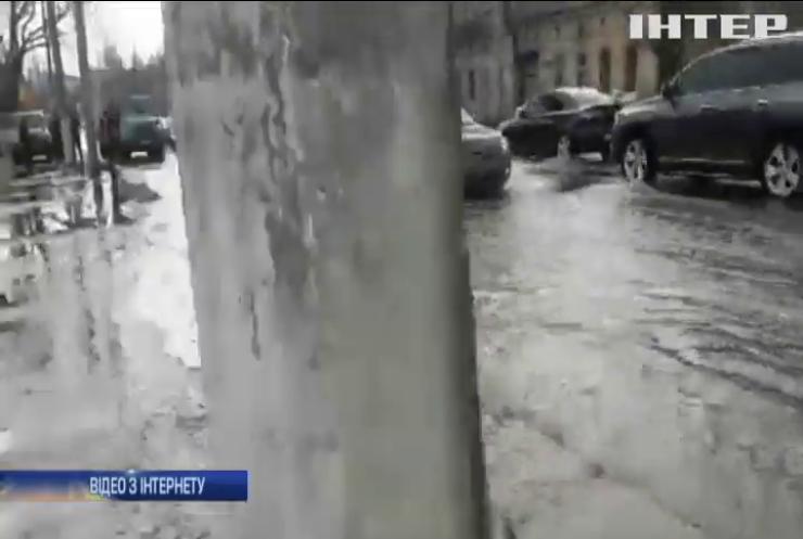 В Одесі сталася аварія на водогоні