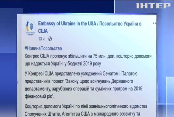 Конгрес США пропонує збільшити цьогорічну допомогу Україні