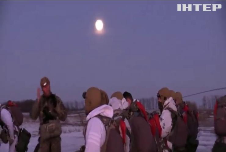 Українські десантники провели навчання у зоні ООС