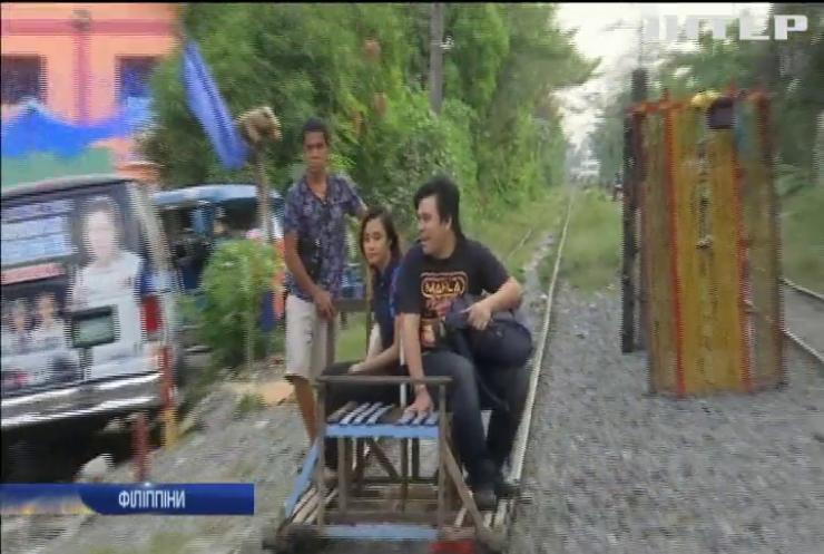 Саморобні дрезини рятують мешканців Філіппін у час-пік (відео)