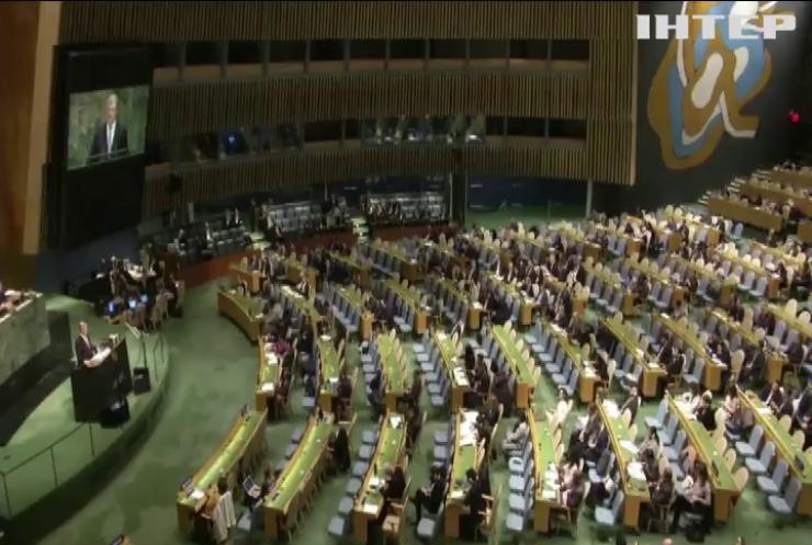 Петро Порошенко на Генасамблеї ООН закликав посилити тиск на Росію