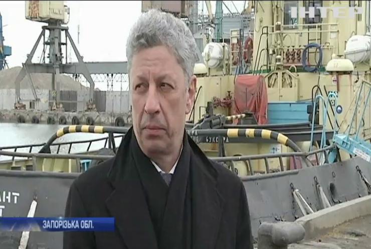Юрій Бойко заявив про необхідність відновлення вантажообігу портів Бердянська і Маріуполя