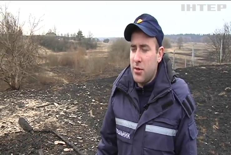 В Україні масово випалюють траву